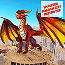 Чудовищен дракон разрушава града