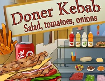 Döner Kebab Salade,Tomates, Oignons