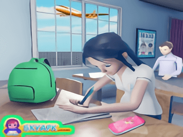 Virtual High School Girl Game- School Simulator 3D