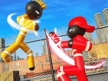 Stickman Police vs Gangster Street Fight