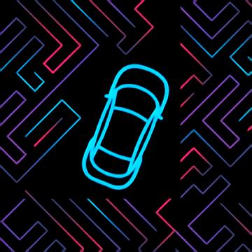 Neon Car Maze