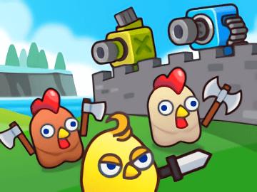 Merge Cannon: Chicken Defense